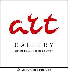 Word art brush lettering