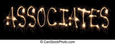 Word associates written sparkler