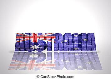 Word Australia on the white background