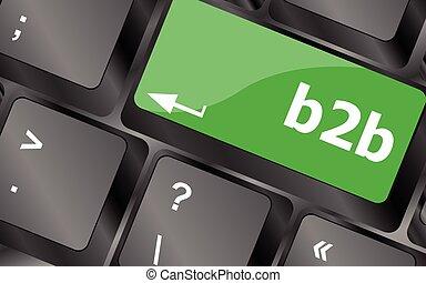 word b2b on digital keyboard key. Keyboard keys icon button vector