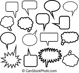 Word Balloon Icons - A set of 16 comic speech balloon icons...