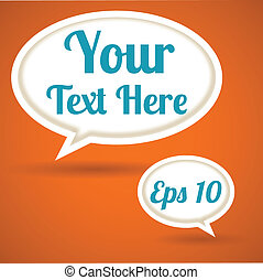 Word Bubble Background - EPS 10 file with transparency...