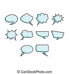 Word bubble icon set - A collection of comic word bubble...