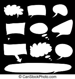 Word bubble - raster - Various types of white word bubbles...