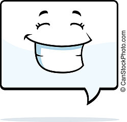 Word Bubble Smiling - A cartoon word bubble happy and...