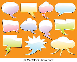 Word Bubble - Vector illustration set with different kinds...