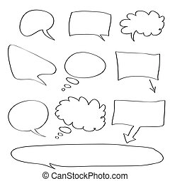 Word bubble - Vector - Various types of white word bubbles...