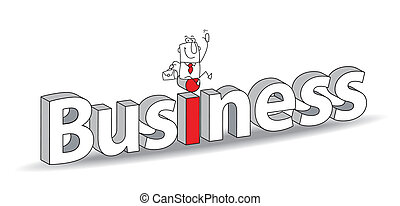 "Business - Word ""Business"" in a 3D style with Joe the..."