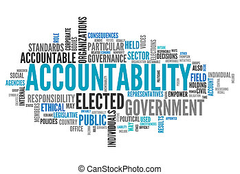 "Word Cloud ""Accountability"""