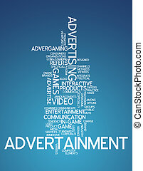 "Word Cloud ""Advertainment"""