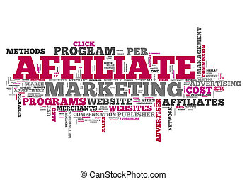 "Word Cloud ""Affiliate Marketing"""