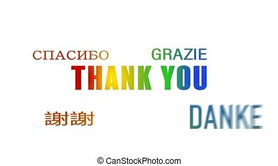 word cloud animation - Thank you - colorful - word cloud...