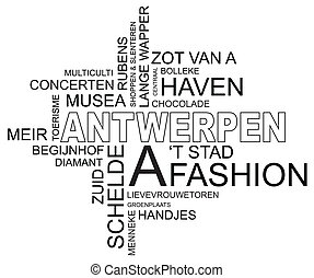 word cloud antwerp - word cloud around antwerp, city in ...