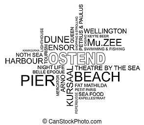 word cloud around ostend