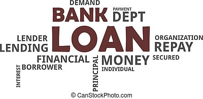 word cloud bank loan a word cloud of bank loan related items clip art vector_csp56866567