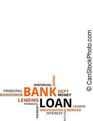 word cloud - bank loan