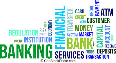 word cloud - banking - A word cloud of banking related items