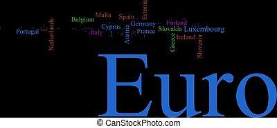 Word Cloud based around the Euro - Word Cloud based around ...