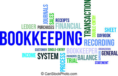 word cloud - bookkeeping - A word cloud of bookkeeping...
