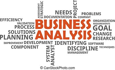 word cloud - business analysis - A word cloud of business...