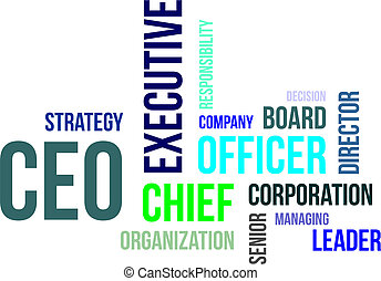 word cloud - ceo - A word cloud of chief executive officer...