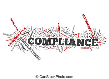Word Cloud Compliance - Word Cloud with Compliance related...