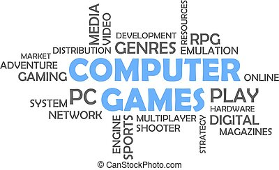 word cloud - computer games
