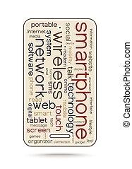 Word cloud concept smartphone