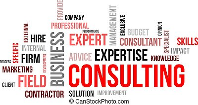 word cloud - consulting - A word cloud of consulting related...