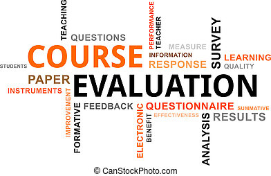 word cloud - course evaluation - A word cloud of course...