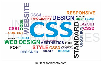 Word cloud - CSS - A word cloud of css related items