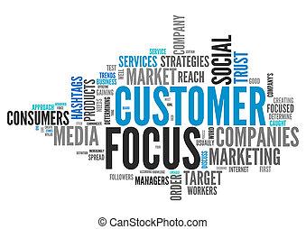 Word Cloud Customer Focus - Word Cloud with Customer Focus...