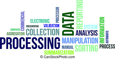 word cloud - data processing - A word cloud of data...