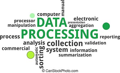 word cloud - data processing