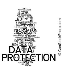 Word Cloud Data Protection - Word Cloud with Data Protection...