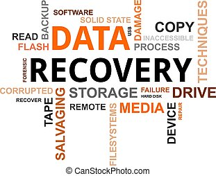 word cloud - data recovery - A word cloud of data recovery...