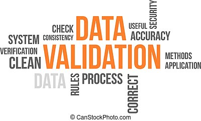 word cloud - data validation - A word cloud of data...