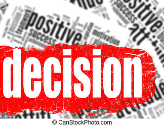 Word cloud decision business sucess concept