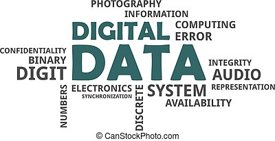 word cloud - digital data