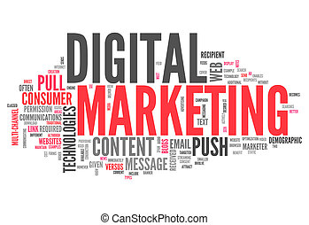 Word Cloud Digital Marketing
