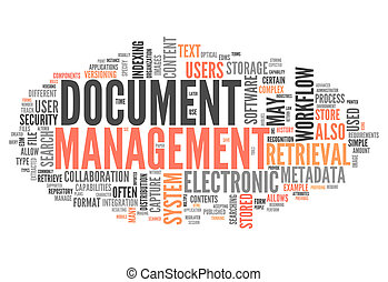 Word Cloud with Document Management related tags