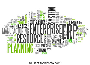 Word Cloud Enterprise Resource Planning - Word Cloud with...