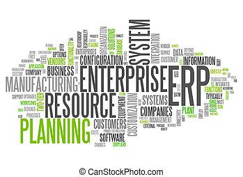 Word Cloud Enterprise Resource Planning - Word Cloud with ...