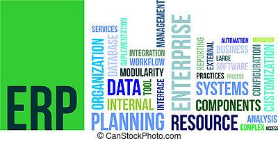 word cloud - erp - A word cloud of enterprise resource...