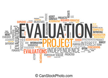 Word Cloud Evaluation - Word Cloud with Evaluation related...