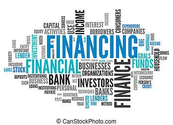 Word Cloud Financing - Word Cloud with Financing wording