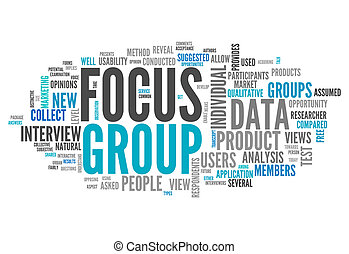 Word Cloud Focus Group - Word Cloud with Focus Group related...