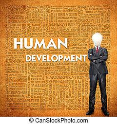 Word cloud for business concept,human development