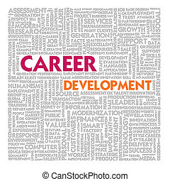 Word cloud for career development