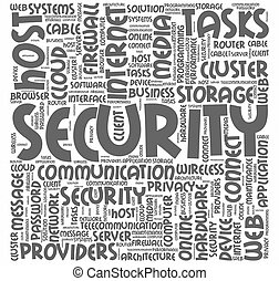 Word cloud for computer security concept